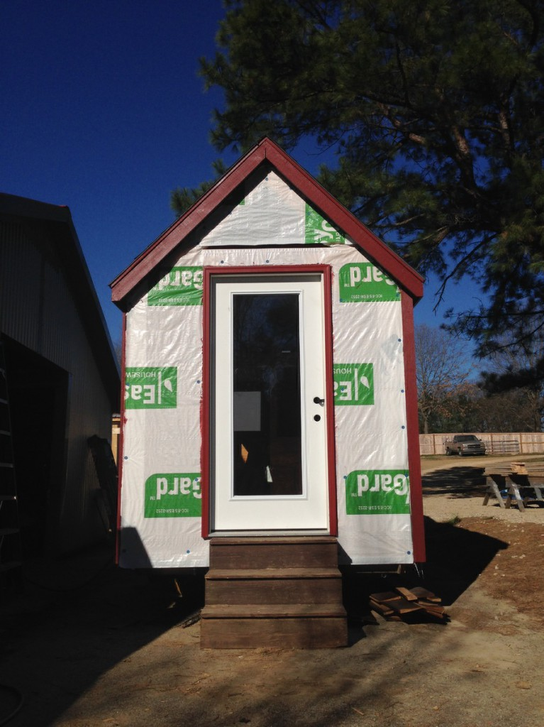 front door of our tiny house