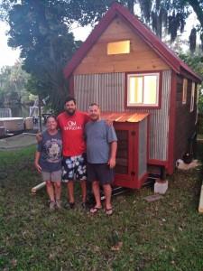 Lisa, Joe & Jon in front of the Bumbleshack